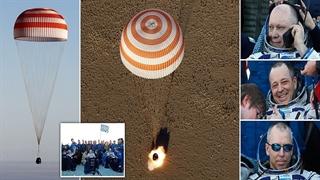 بازگشت ۳ فضانورد ایستگاه بین المللی فضایی به زمین