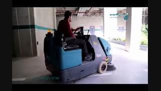 سوییپر صنعتی - سوییپر سخت کار برای نظافت پارکینگ ها