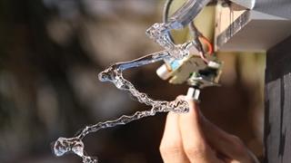 تغییر در حرکت جریان آب با امواج صوت
