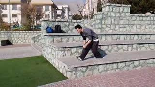 جدید ترین ویدیو پارکور تمیم سعیدی