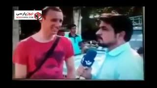 این گزارشگر، جواد خیابانی را روسفید کرد