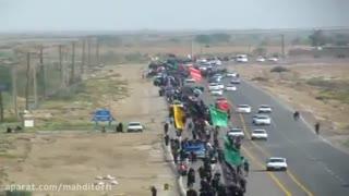 بزرگترین کاروان پیاده اربعین حسینی به شهر مرزی بستان رسید