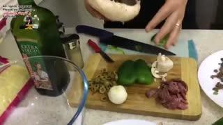 طرز تهیه قارچ شکم پر پیتزایی ساده