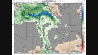 نابهنجاری بارش تجمعی طی روزهای ماه آبان 97
