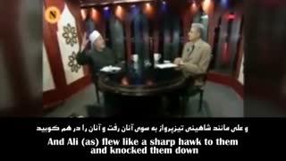 """سخنان """"شیخ نادی البدری"""" دانشمند سنی در فضیلت امام علی (ع)"""