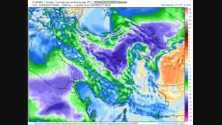 الگوی آنومالی دما بیشینه طی چهارشنبه 2 لغایت چهارشنبه 9 آبان 97 (برحسب سلسیوس)
