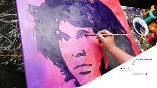 نقاشی ابسترکت زیبا از Jim Morrison