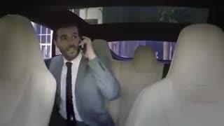 تاکسی بدون راننده کمپانی تسلا در دبی!!!
