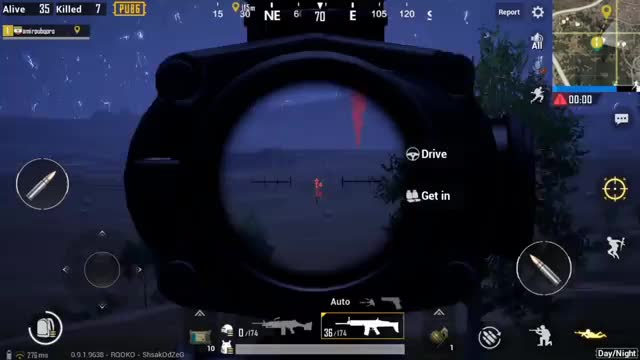 Pubg Night Mode GamePlay By AmirPubgPro