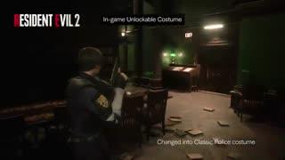 لباس های کلاسیک لئون و کلیر در Resident Evil 2