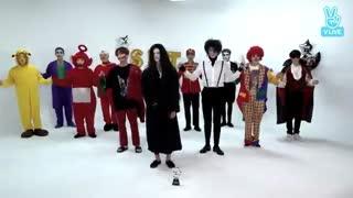 اجرای آهنگ oh my  گروه seventeen ویژه هالووین!~~~سکته کردم :-|