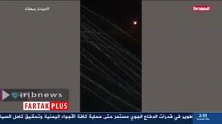 لحظه سرنگونی پهپاد ائتلاف سعودی بر فراز سواحل غربی یمن