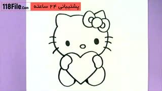 نقاشی به کودکان - گربه ناز و ملوس