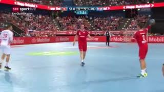 دیدار تیم های سوئیس و کرواسی در مقدماتی قهرمانی مردان اروپا یورو 2020