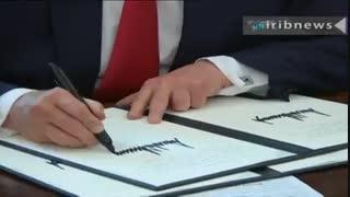 امضای تحریم های جدید برای ایران از سوی دولت ترامپ
